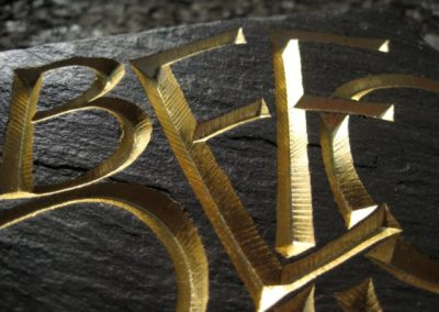 Adam Heller Carving Gilded