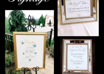 Jane Pierce Wedding Signage